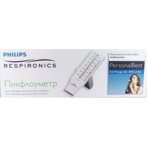 Philips Respironics Personal Best Пикфлоуметр hh1327/00, Full Range 60-810, для взрослых, 1 шт.